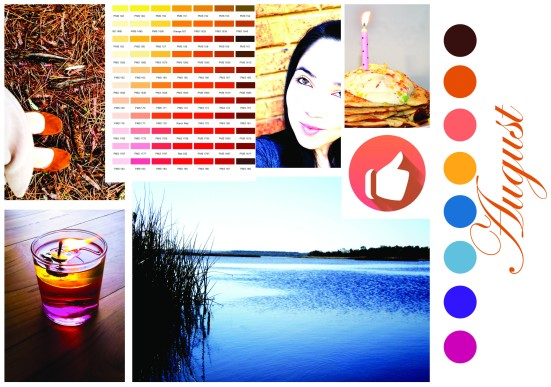 August in palettes
